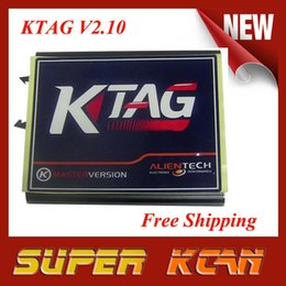 Wholesale Programme Ecu - Wholesale-2015 New arrival K-TAG KTAG ECU Programming Tool Version 2.10 free shipping KTAG