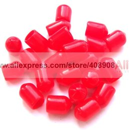 Wholesale Dust Cover For Connectors - 2000pcs Plastic Covers Dust Cap Red for RF SMA Female Connector