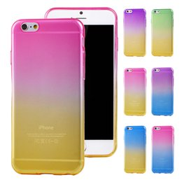 Wholesale Changing Gel - For iPhone 6S 6 Plus 6Plus Rainbow TPU Case Color Change Gradual Soft Rubber Gel Cases Cover for iPhone6 iPhone6S