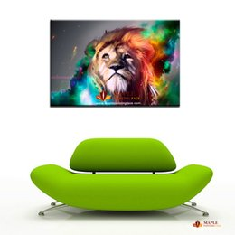 Wholesale Home Decors For Cheap - Hot sell HD lion paintings decorative picture for living room modern wall art home decor wall painting art large canvas art cheap