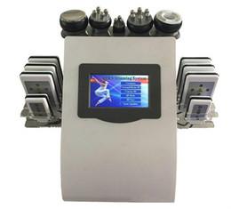Wholesale Strong Slimming Cavitation Machine - Effective Strong 40k Ultrasonic Cavitation 8 Pads LLLT lipo Laser Slimming Machine Vacuum RF Skin Care Salon Spa Use Equipment Fast Shipping