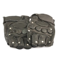 Wholesale Men S Brown Leather Gloves - Black Mitten Gloves Authentic Leather Glove For Motorbike Driving