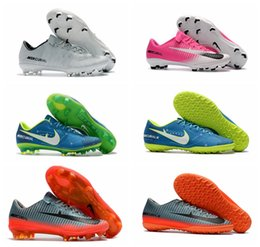 Wholesale Victory Boots - Mercurial Vapor XI Neymar FG Victory VI CR7 TF Kids Soccer Boots Low Ankle Cut Youth Mens Soccer Cleats Boys Superfly Football Shoes