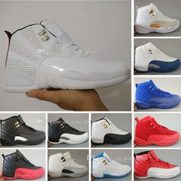 Wholesale Gray Taxi - Top Retro 12 XII Basketball Shoes Sneakers Men Women Taxi Playoffs Replicas Gamma White Gray Retros 12s Shoes Sports trainers Shoes 36-47