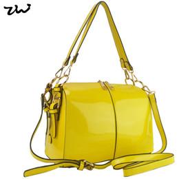 Wholesale Bright Blue Handbag - Wholesale-New Arrival 6 Color 2015 New Arrival Bright Solid Patent PU Leather Bag Women's Handbag Fashion Bags VK1336