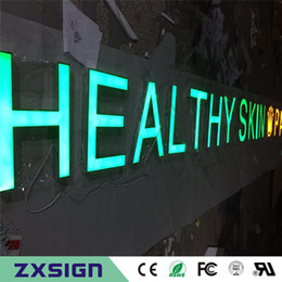 Wholesale Acrylic Advertising - Factory Outlet Outdoor advertising front lit Acrylic led channel letter , shop front sign name,illuminated advertising signage
