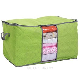 Wholesale Modern Green Pillow - Amazing 3 Colors Foldable Clothing Organizer Clothing Storage Box for Blanket Pillow Underbed Bedding Drop shipping