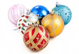 Wholesale Christmas Ball Ornaments Sale - 10Pcs Lot 6CM Christmas Tree Ball and The Christmas tree to hang love Christmas Decorations 2015 Hot Sale Festive Party Supplies