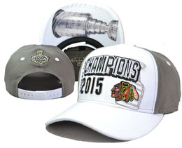 Wholesale Hot Pink Snap Back Hat - 2015 Stanley Cup Champion Snapbacks Hottest Blackhawks Caps Brand Hockey Hats Adjustbale Caps Fashion Sports Hats Cheap Snap Back Hats