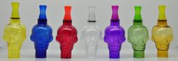 Wholesale Holder For Pens - Big Skull Glass Cover With Cigarette Holder For Glass Globe Vhit Seego Type-C Atomizer Tank Cover Vape Vaporizer G Pen
