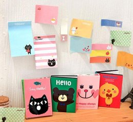 Wholesale Notepad Animal Sticky - Free Shipping   New cute cartoon animals Notepad   Memo pad   Paper sticky note   message post   Wholesale 20pcs