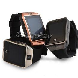 Smartwatch для дешевых онлайн-Дешевые Q18 Buetooth Smart Watch Поддержка SIM TF Карта NFC Беспроводное Соединение SmartWatch с Пульт Дистанционного Управления Камерой Дата Синхронизации Facebook Для IOS