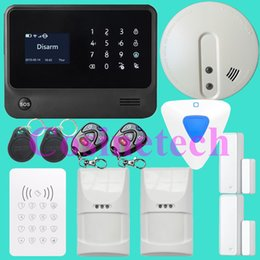 Wholesale Alarm Systems Wifi - WiFi Alarm System Wireless GSM Home Security Alarm System IOS Android Control Motion Sensor Alarm