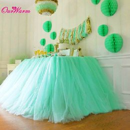 Wholesale Skirt For Table - Wholesale-SALE-Tulle Tutu Table Skirt for Wedding Decoration White Wedding Table Skirts Event Party Supplies for Baby Shower Decoration