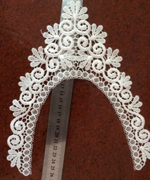 Wholesale White Lace Trim Fabric - White Lace Trim Flower Embroidery Wedding Applique Sewing Trims Fabric Sewing Trims DIY Sewing free shipping