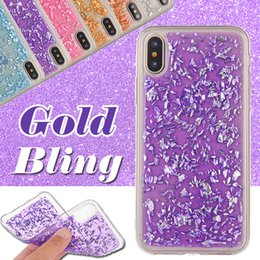 Gold Bling Case Paillette Sequin Clear Soft TPU Slim Shockproof Rubber Cover для iPhone XS Max XR X 8 7 6 Plus Samsung Galaxy Note 9 S9 S8 от Поставщики золото галактики samsung золото