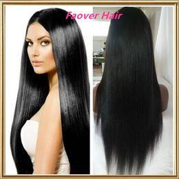 Wholesale European Lace Top - top grade 8A 1#,1b,2#,4#,Natural Color European Virgin Hair Silky Straight Full Lace wig Front Lace Wig with baby hair natural hairline