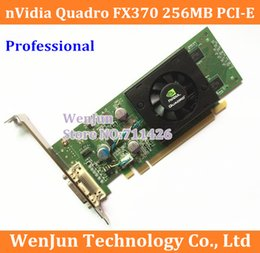 Wholesale wholesale graphics card - 10pcs Free Shipping Original Quadro FX370 LP 256M PCI-E DMS 59 Professional Graphic Video Card Warranty 1years order<$18no track