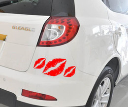 Wholesale Vinyl Tops For Cars - Top This Three Lady Kissing Lips Styling Decals For Cars Sticker