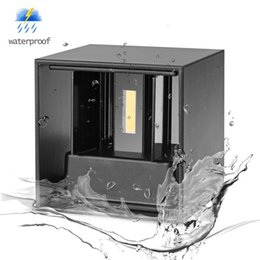 Wholesale led light cube lamp - Umlight1688 7W 12W COB Led Wall Sconces Wall Lights IP65 Surface Mounted Outdoor Cube Lamp Waterproof Up & Down (White Warm White)