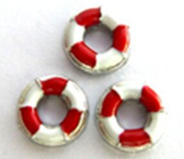 Wholesale Life Float Ring - 20PCS lot Red Life Ring Alloy Floating Charms Fit For DIY Magnetic Glass Living Locket Jewelry Making