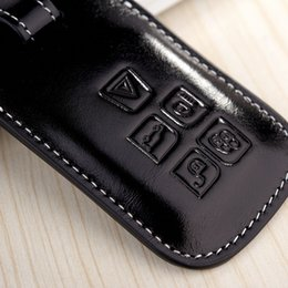 Wholesale Carbon Fiber Key Case - Exterior Accessories Car Stickers Leather Key Fob Cover Case for LandRover 2017 Discovery 5 4 Range Rover 2015 2016 Freelander Evoque Key