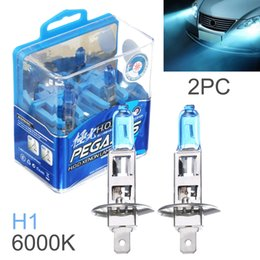 Wholesale H1 Car Lamp - DHL Wholesale 2pcs H1 100W White Light Super Bright Car HOD Xenon Halogen Lamp Auto Front Headlight Fog Bulb CLT_60X