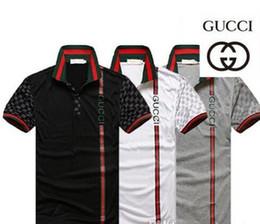 Calça euro on-line-Venda quente Nova G G moda masculina verão Euro EUA calças de lazer collocation POLO t camisas para homens Itália polo camisa