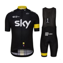 Wholesale Shorts Size Cycling Sky - Team sky cycling clothing 2016 cycling jerseys shirt bicycle top jerseys Cycling wear top jersey Tour De France Size XS-4XL