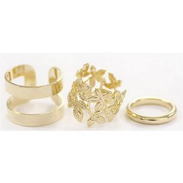 Wholesale Stylish Fashion Rings For Women - Wholesale-3PCS Set Fashion Women Vintage Knuckle Ring Gift Women Jewelry Korean Fashion Stylish Wedding For Girl Women