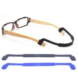 Wholesale Eyeglasses Holder Chain - 50Pcs Lot Super Soft Silicone Elastic Glasses Rope Eyeglasses Band Antiskid Rope Cord Chain Holder Sports Glasses Band Eyeglass Band