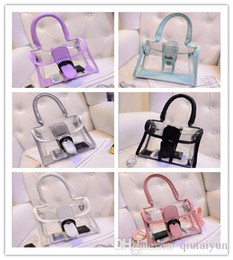 Wholesale Transparent Tote Bags Wholesale - 2015 Women's fashion Jelly Purse Clear Transparent Summer Beach Totes Shopper Beach Shoulder Bag Handbag LB51