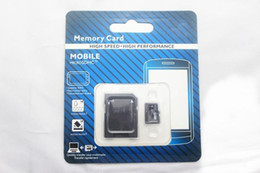Wholesale Memory Card Retail - 30pcs lot DHL Class 10 64GB Micro SD TF Memory Card Class 10 With Adapter Class 10 TF Memory Cards with Free SD Adapter Retail Package
