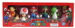 Wholesale Mario Dolls - Super Mario Bros Peach Toad Mario Luigi Yoshi Donkey Kong PVC Action Figure Toys Dolls 6pcs set New in Box