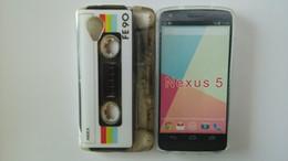 Lg nexus étui souple en Ligne-Chaude Sexy Léopard Zèbre Motif Rétro Cassette Fleur De Silicium Coeur Style Couverture Arrière Souple Pour LG Google Nexus 5 E980 Gratuit
