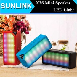 Wholesale Flash Music Box - LED Flashing X3S MINI Wireless Bluetooth Speaker Portable Audio Player Music Sound Box Car Call Handsfree Mic