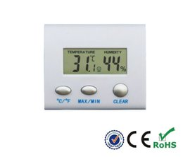 Argentina Nueva LCD Higrómetro Electrónico Digital Termómetro de Humedad Medidor de Temperatura Tester Reloj Hogar Uso en Interiores Termometro Inalámbrico Suministro