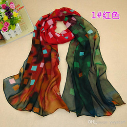 Wholesale Korean Style Scarves - Hot Sale Models Fashion Scarf Korean Style Dream Scarves For Women Lady Grid Pattern long Scarfs