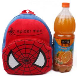 Wholesale Spiderman Backpacks - Baby Boys Girls Spiderman mini toy Backpacks 1-3T soft cute cartoon spiderman bag put the cady dolls backpack birthday gift 10pcs