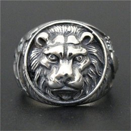 Wholesale Fast King - 1pc Fast Free Shipping New Arrival Lion King Ring 316L Stainless Steel Popular Fashion Jewelry Men Animal Lion Ring