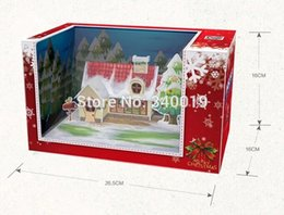 Wholesale Visual Paper - Wholesale-CubicFun 3D Puzzle with visual effect projection toy 16*16*26 cm 1 pcs set DIY Paper Model educational toy Christmas gift