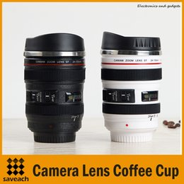 Wholesale White Tea Cups Wholesale - 400ML Stainless steel Coffee Cup Best Gift For Canon Fans 1:1 EF 24-105mm Thermos Camera Lens Mug for Coffee Milk Tea Water