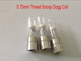Wholesale G Dog - 0.75mm Snoop dogg coil vaporizer atomizer coil for dry herb vaporizer snoop dog g Coil with glass tube electronic cigarettes free shipped