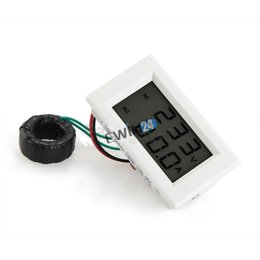 Wholesale Display Digital Ac - New and high quality AC 80-300V 50A Dual Display LCD Panel Meter Digital Voltmeter Ammeter AMP Volt