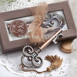 Wholesale Victorian Keys - Wholesale- DHL Freeshipping 50pcs Antique Victorian key Bottle Opener wedding favors guest gift