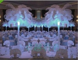 Wholesale White Ostrich Plumes Centerpieces - Natural White Ostrich Feathers Plume Centerpiece for Wedding Party Table Decoration Free Shipping (Many Sizes for You To Choose)001