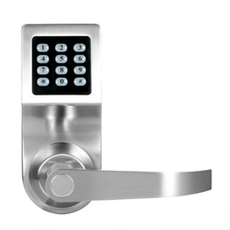 Wholesale Electronic Remote Lock - 4-in-1 Electronic Keyless Keypad Door Coded Lock Unlocked by Password + RF Card + Remote Control + Mechanical Key Home Security