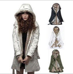 Wholesale Ladies Green Winter Coats - Jackets For Women New Lady Women Thicken Warm Winter Coat Hood Parka Overcoat Long Jacket Outwear