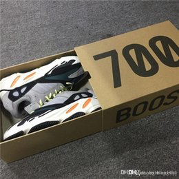 Wholesale Wholesale White Round Boxes - ORIGINALS Kanye West Wave Runner 700 Boost 700s Running Shoes 2017 Limited Release Cream White With Original Box Best Men Women Sneakers