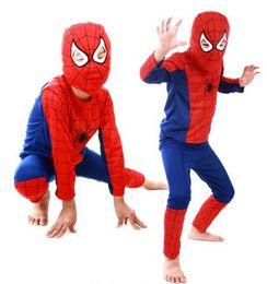 Wholesale Kids Spiderman Spandex - Kids Children Girls Boys Baby Costume Clothing Set Clothes Spiderman Batman Superman Zorro Cosplay Show Fantasia Halloween Anime TY566